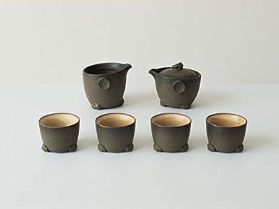 Ensemble à thé en céramique, 1théière et 4tasses à thé murale et 1Passoire pour thé en vrac ???????????????1?1?4?