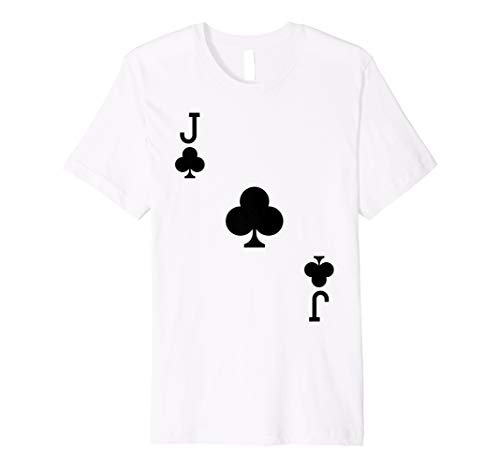 Jack Clubs Kostüm Of - Jack Of Clubs Kostüm T-Shirt Halloween Deck Of Cards