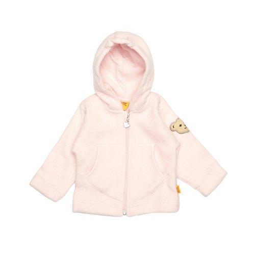 Steiff Unisex Baby Jacke 0006837 Sweatjacket 1/1 Sleeves,, Gr. 8 Jahre (Herstellergröße: 128),Rosa (Barely Pink)