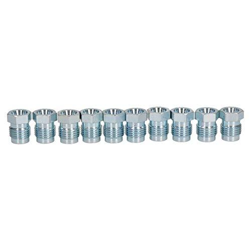 10 Stück Stahl-Bremsrohre mit kurzer Verbindungsstücke, 1/2 Zoll x 20 UNF für 1/4 Zoll Bremsen
