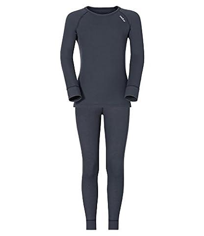 Odlo Jungen Skiunterwäsche Set Thermounterwäsche Originals warm, Farbe:Grau;Größe:140;Artikel:-22200 india
