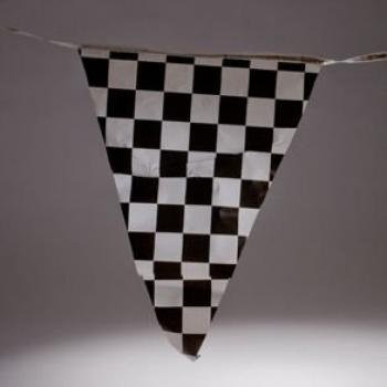 heckered Flags Banner Pennant Car Racing Kid's Toy by Fun Express (Checkered Flag Banner)