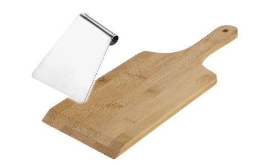 Westmark Spätzle-Holzbrett und Edelstahlschaber für traditionelle Spätzle-Zubereitung, Holz/Rostfreier Edelstahl, Hellbraun/Silber, 61162240