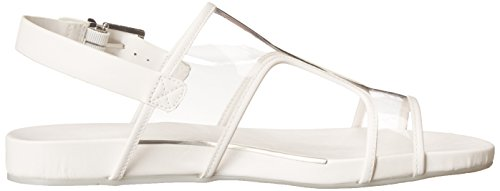 BCBG Max Azria Peters Offener Spitze Synthetik Slingback Sandale Clear/White Translucent
