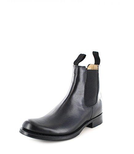 Sendra boots bottines bottes chelsea 5595 (différents coloris & les variantes) Noir - Noir