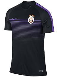 Nike Gs M Top Ss Sqd Cl Camiseta de Fútbol de Manga Corta Oficial Galatasaray Istambul Primera Equipación 2016-2017, Hombre, Negro / Hiper Uva / Hiper Uva, S