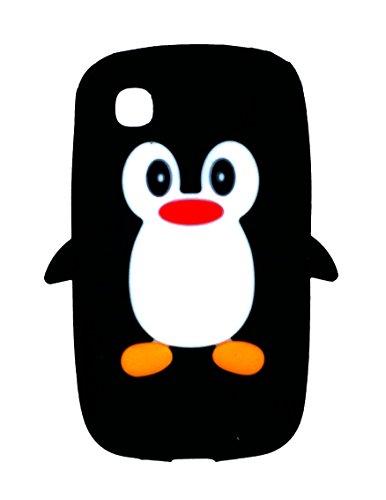 SKS Distribution® noir LG L40 Dual D170 Pinguin niedlichen Tier Silikonhülle Shell Beschützer Handy Smartphone Zubehör