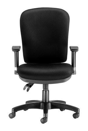 Chairs For Offices 130030BK Executive Heavy Duty Ergonomic Back Care Office Chair with Arms Black Free 3 day Delivery