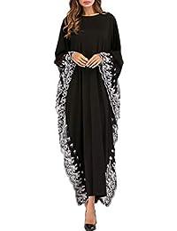 Vestido Bordado con Mangas de murciélago para Mujer Túnicas Musulmanas Ropa de Gran tamaño ...