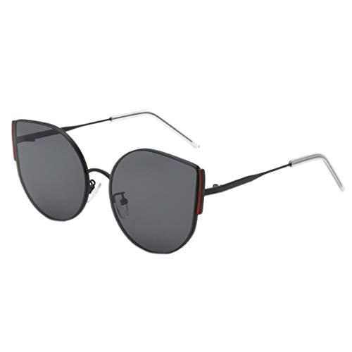 Rosennie Mode Rechteckige Sonnenbrille Vintage Kleine Sonnenbrille für Männer Frau Unregelmäßige Sonnenbrille Round Eyewear Retro Metallrahmen Fliegerbrille