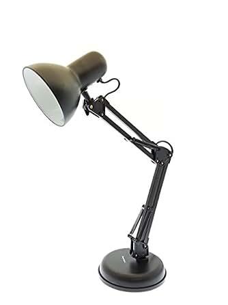 Innoteck DS-1282 Swing Arm Desk lamp - Durable Architech lamp, Metal, Matt Black