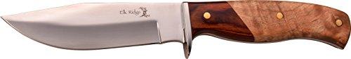 Elk Ridge Couteau d'extérieur Hunter Bois Pakka et Racine Manche en Bois Longueur Totale cm : 24,13, elkr de 1240