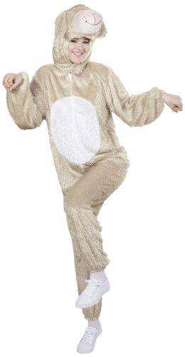 Widmann 9968B - Erwachsenenkostüm Lamm, Overall mit Maske, Größe M / (Männer Für Kostüm Schaf)