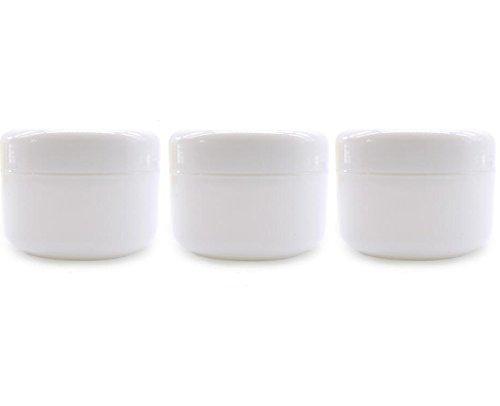 3PCS 250ml / gramme 8oz blanc vide en plastique crème lotion voyage emballage flacon flacons pot pots avec support de stockage de masque de maquillage doublure PP pour cosmétiques baume à lèvres