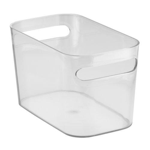 InterDesign Una Organizer, Aufbewahrungsbox aus Kunststoff für Haushalt und Hobby, durchsichtig (Klare Kunststoff-organizer Box)
