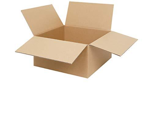 100 Faltkartons 300 x 300 x 150 mm | Versandkartons | Faltschachteln | Kartons zum Paketversand mit DHL, DPD, GLS und Hermes | verschiedene Mengen 25-1000 Stück wählbar