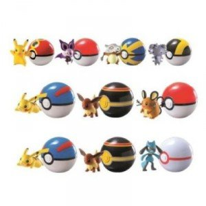 POKEMON Blister POKEBALL + PERSONAJE Figuras Sortida ENVIO ALEATORIO (random) SERIES CLIP AND CARRY de Tomy