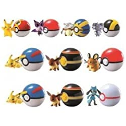 POKEMON Blister POKEBALL + Figura PERSONAGGIO Assortimento Spedizione Random SERIE CLIP AND CARRY