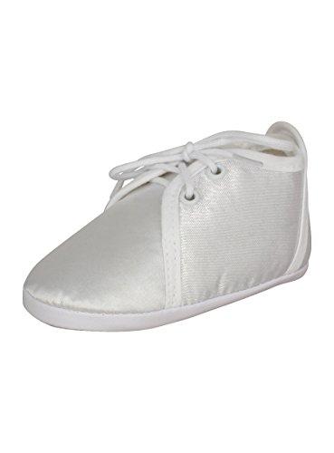 Chaussons baptême blanc bébé SOURIS - Gris argent - Taille Unique tfQTf
