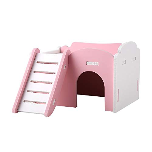 Duokon Haus Hamster Haus Zwerg Mäuse Haustier Holzunterstand 3 Farben Doppelschicht Cute Sleeping...