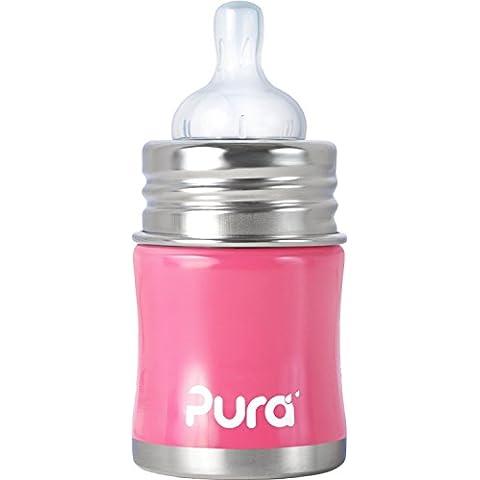 Pura Kiki - Borraccia per bambini in acciaio inossidabile, 150 ml
