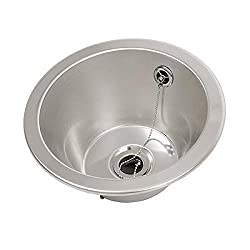 FIN260R Round inset bowl 310mm diameter Stainless Steel Sink