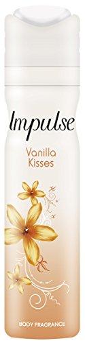 Impulse Deospray Vanilla Kisses ohne Aluminium, 3er Pack (3 x 75 ml)