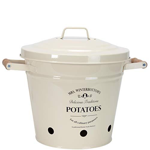 BUTLERS Mrs. Winterbottom\'s Kartoffeleimer - aus Zink im englischen Design - creme