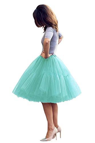 Sottogonne petticoat sottovesti e sottogonna gonne da donna retro petticoat crinolina tutu 50s annata swing festa di moda abito in tulle