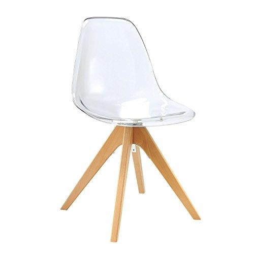 Lo + deModa Wooden Star Clear Edition - Chaise, Bois, 61 x 64 x 120 cm, Couleur Transparent