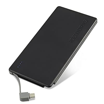 Iceworks 7000 In-Built Cable USB C Power Bank – Built In Type C Cable Portable Charger – Fast Charge, Ultra Slim Battery Design. Includes USB-C Charging Cable (In-Built Cable Compatible with USB-C Devices Only) from Iceworks