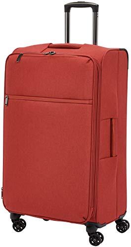 AmazonBasics - Trolley da viaggio morbido imbottito Belltown, 78 cm, Rosso