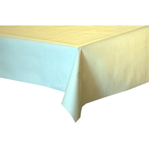 Tovaglia cerata in bianco tinta unita lavabile musterlos, Vinile, multicolore, 100x140cm