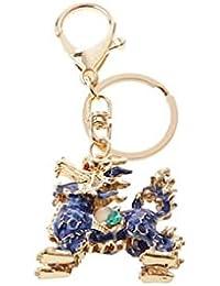 Banggood ELECTROPRIME Opal Crystal Kylin Keychain Keyring Bag Charm Key Ring Pendant Blue
