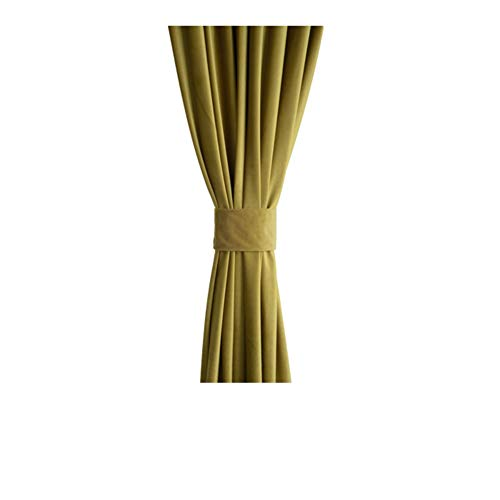 WWBB Blackout vorhänge,Waldgrün Dunkelgrün Panel,Velvet Vorhänge,Vintage Flanell vorhänge,Schattierung Verdickung Drapieren-D 200x260cm(79x102inch) -