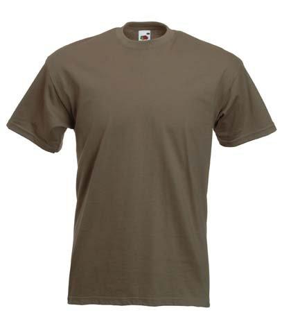 Fruite of the Loom Super Premium T-Shirt, Khaki, Gr.XL XL,Khaki (Shirt Khaki)