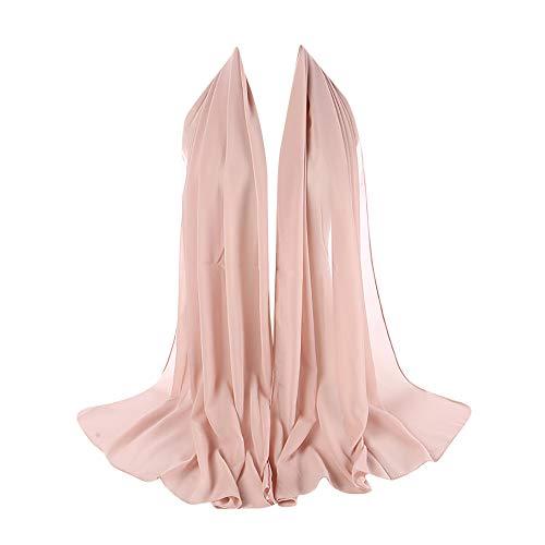 ubble Elegant Chiffon Schal Schals Stirnband Muslim Hijab Abendkleid Braut Hochzeit(G) ()