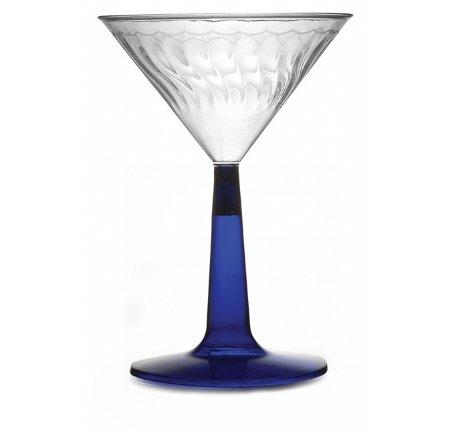 12Stück Mehrwegbecher Martini Gläser aus Kunststoff/Premium Kunststoff Elegant Cocktail Gläser-Blau-6oz (170ml) für Hochzeiten, Events Partys ausgerichtet Kneipen Bars & Restaurants