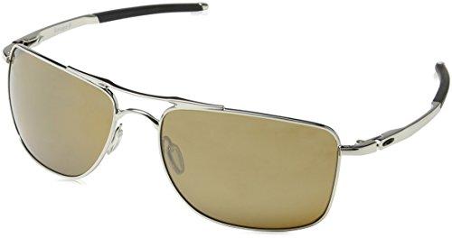 Oakley Herren Gauge 8 412405 62 Sonnenbrille, Silber (Polished Grey Chrome/Tungsteniridiumpolarized),
