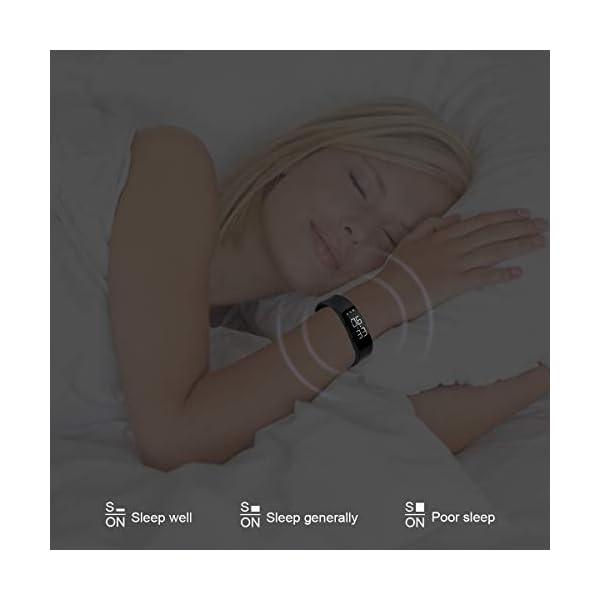Hootracker Pulsera Actividad Fitness Smart Watch Tracker Contador de Pasos, Contador de Calorías,Distancia niños Mujer Hombre - Non-Bluetooth Non-App 4