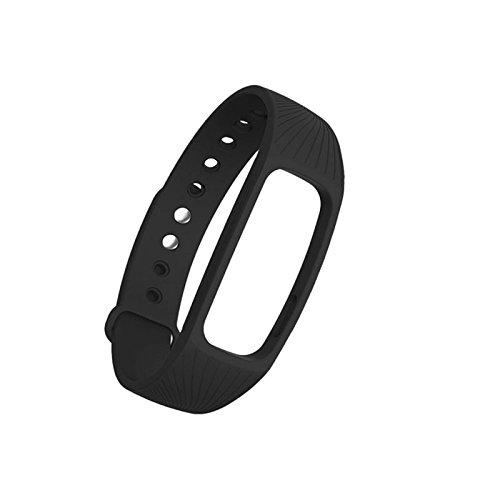 Kofun Ersatz Fitness Tracker Pulsmesser Gurt Armband für IPRO ID107 Smart Watch Schwarz