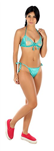 RIBLISS TURQUOISE BIKNI SET
