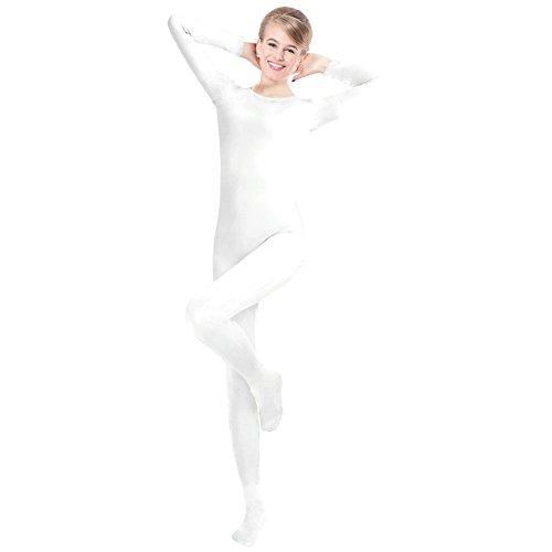 CUTECATCOS Stock Unisex Lycra Spandex Unitard Round Neck Long Sleeves Full Foot Elastane Bodysuit