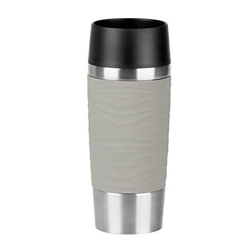 Emsa N2010800 Travel Mug Waves Isolierbecher, (18/10), Edelstahl/puder-grau