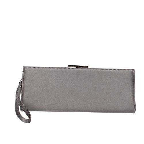 VIRGINIA'S SECRET borsa pochette donna viola grigio raso Grigio