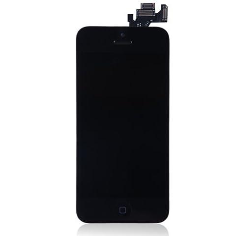 YFC® Display für iPhone 5 LCD Glas VORMONTIERT Komplett Front Schwarz