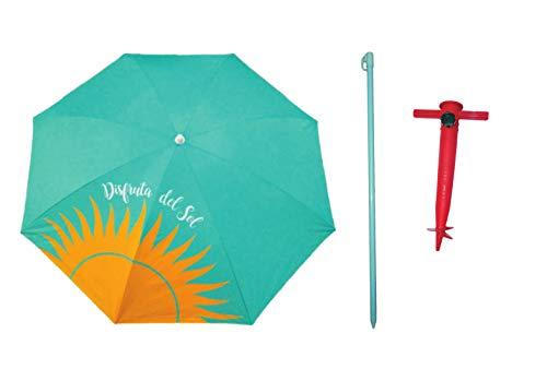 Spieß Strandschirm mit Halterung Set, Genre, Pistacho, 180 cm