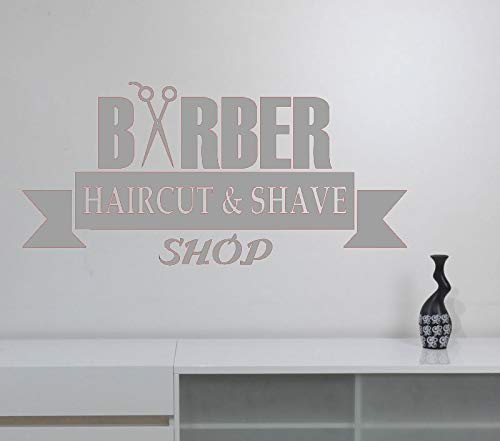guijiumai Barbershop Vinyl Wandaufkleber Frisur Friseur Friseursalon Fensterdekoration Barbershop Interior Art Deco M 4 120x57cm -