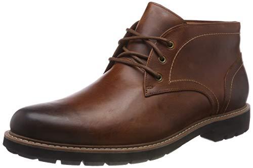 Clarks Herren Batcombe Lo Chelsea Boots, Braun (Dark Tan Lea), 41 EU