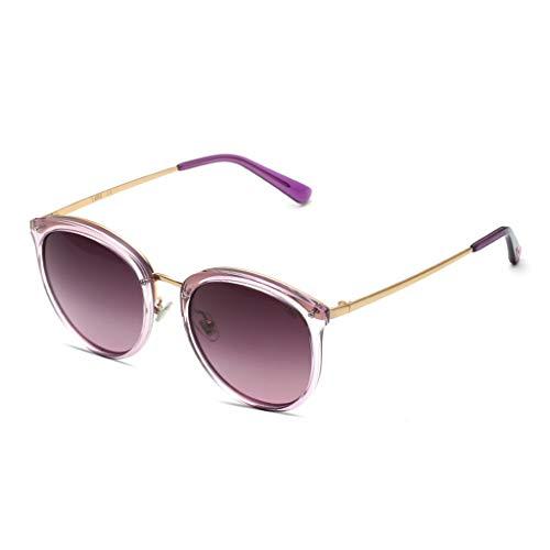 SUNGLASSES Trendy Sonnenbrillen, für Frauen Zubehör Fall UV400 Schutz Metallrahmen Randlose Design Ideal für Fahren oder Stadtgehen (Farbe : B)